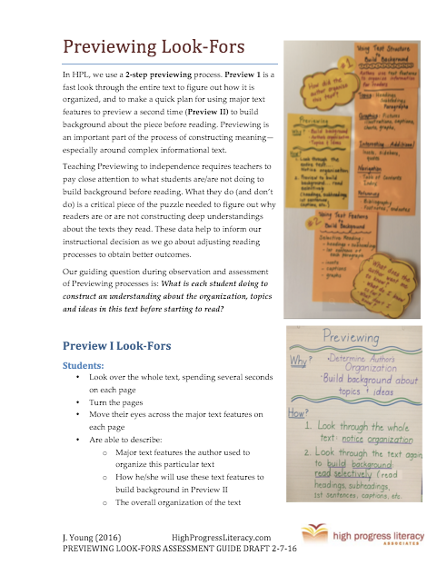 Previewing Assessment Guide